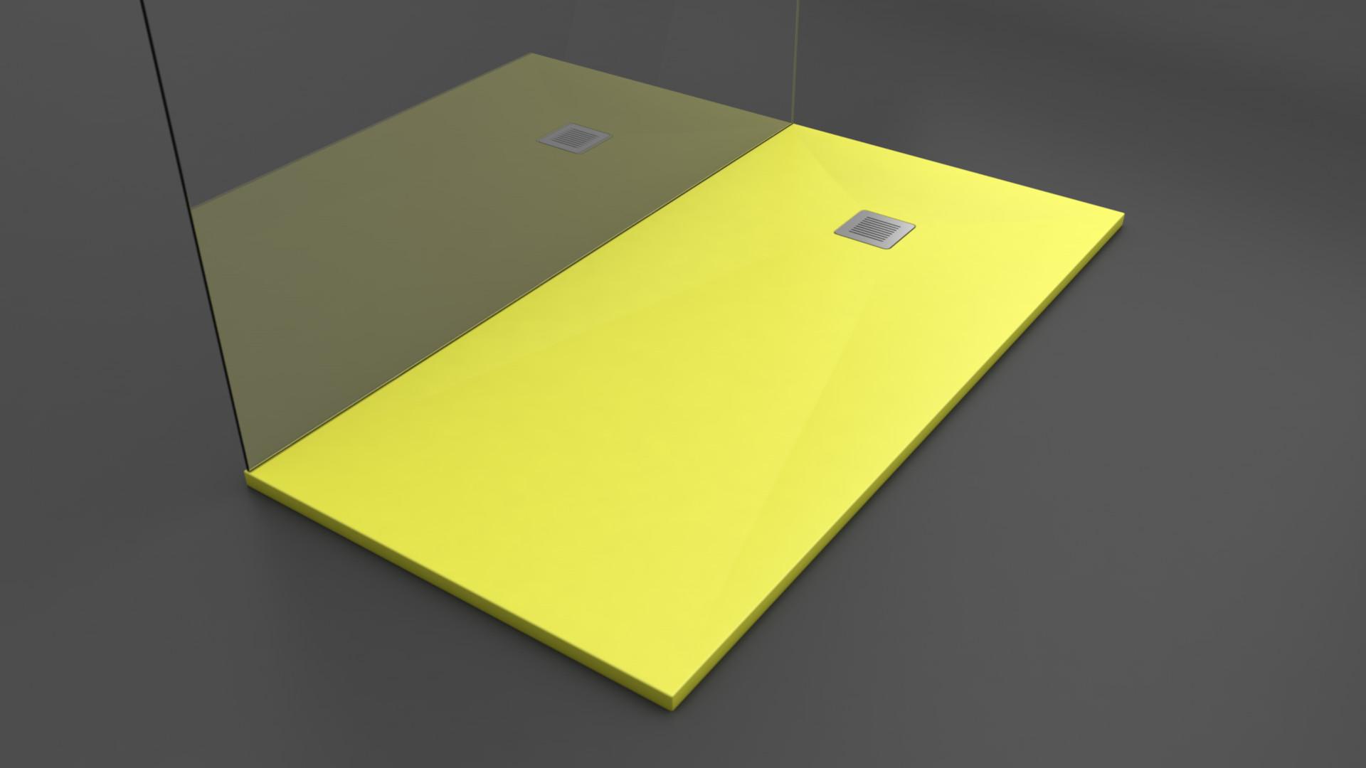 Texence - Plato de ducha color amarillo