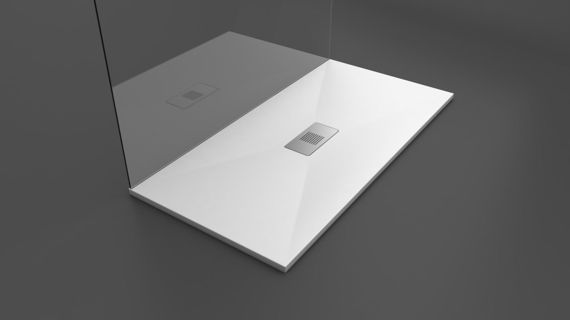 Texence Double Center Square - Plato de ducha blanco
