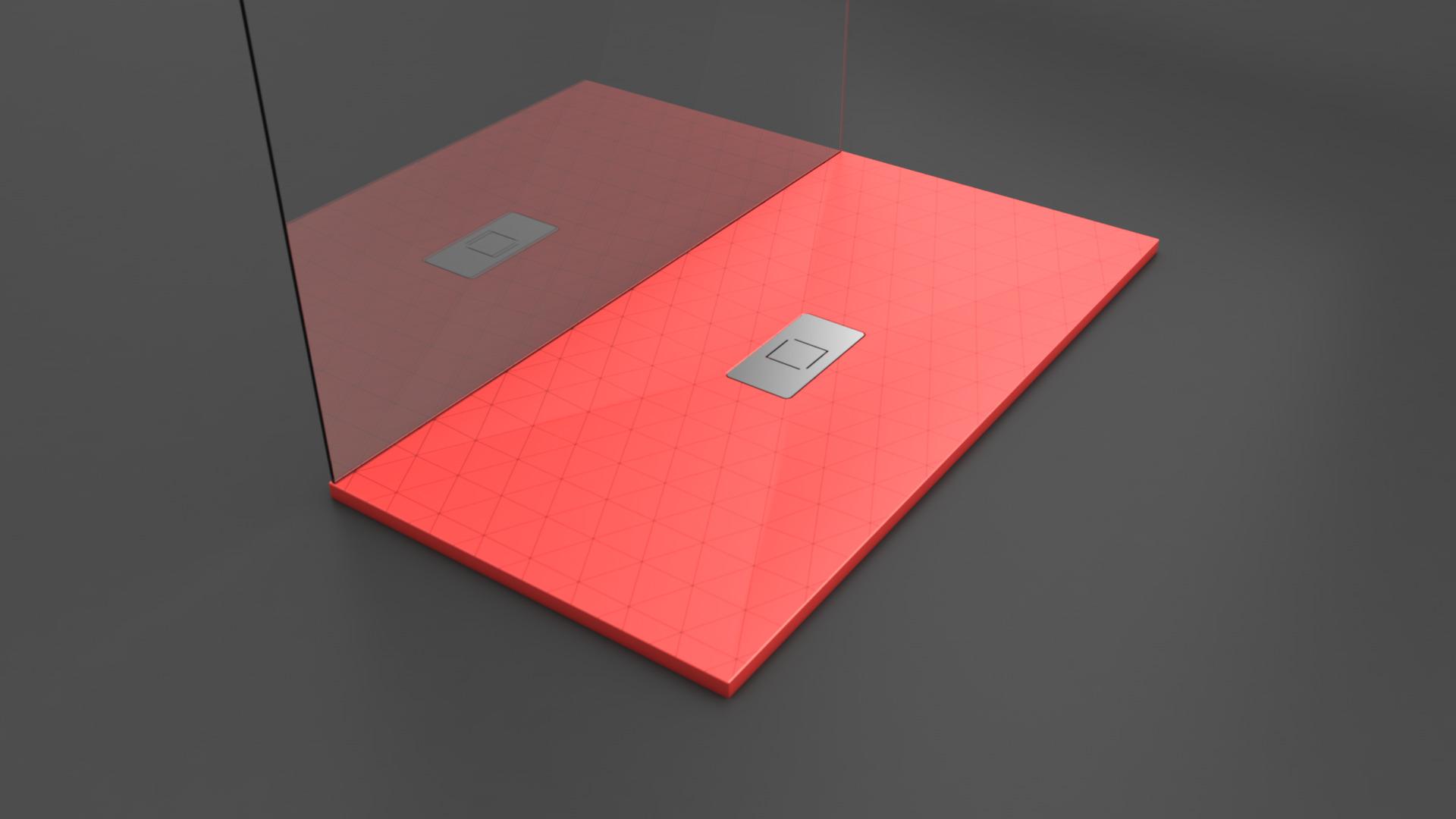 Texence Double Center Square - Plato de ducha textura triángulos