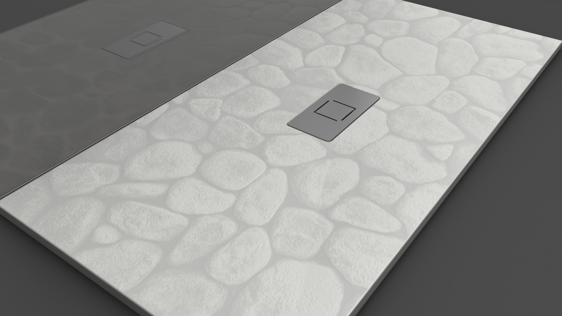 Texence Double Center Square - Plato de ducha textura piedras