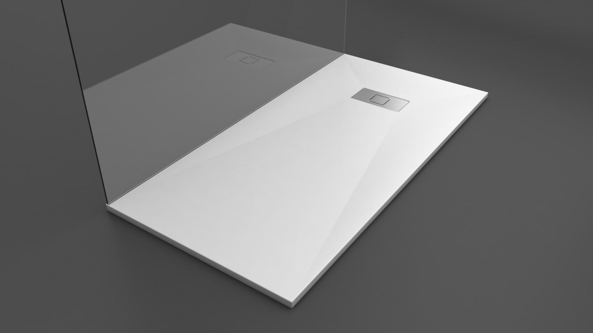 Texence Double Square - Plato de ducha blanco