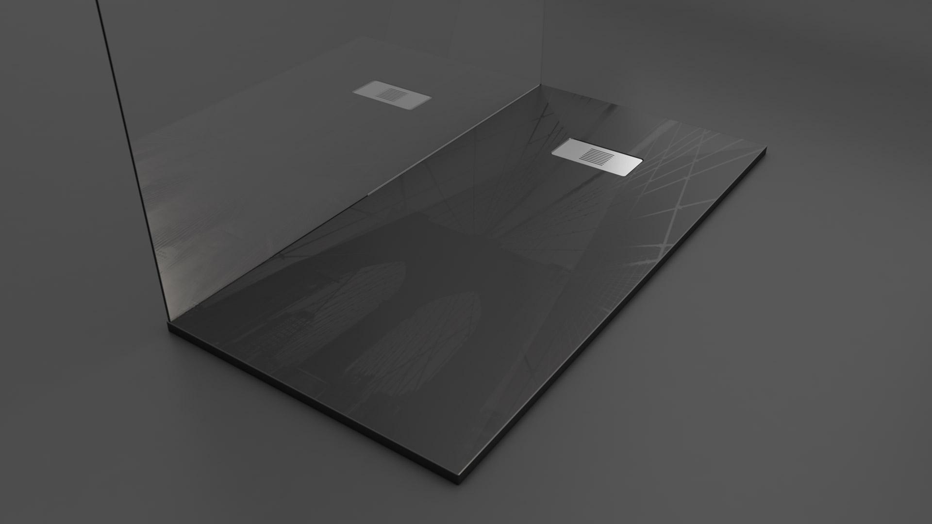 Texence Double Square - Plato de ducha texturizado