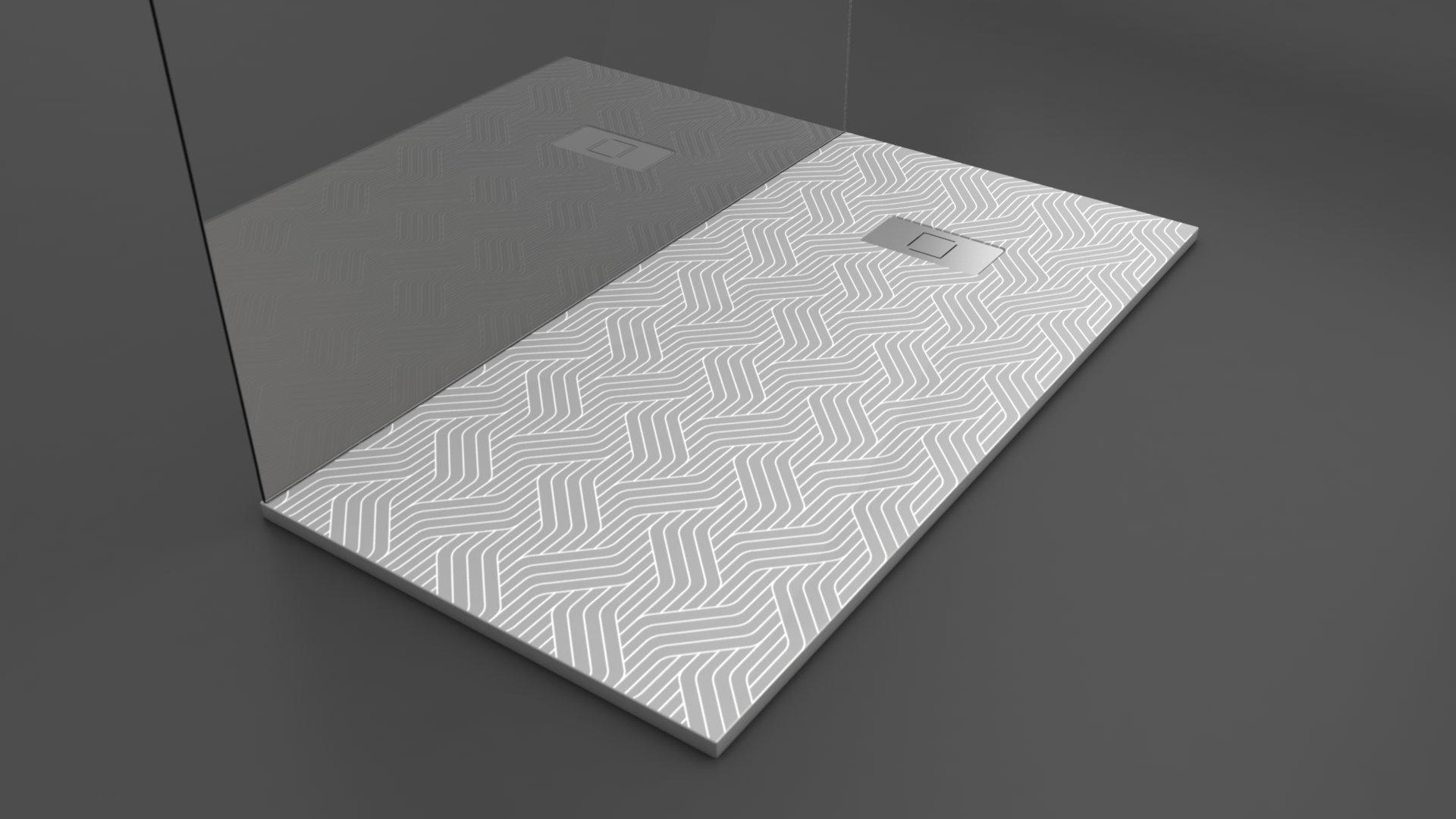 Texence Double Square - Plato de ducha con textura de trenzado