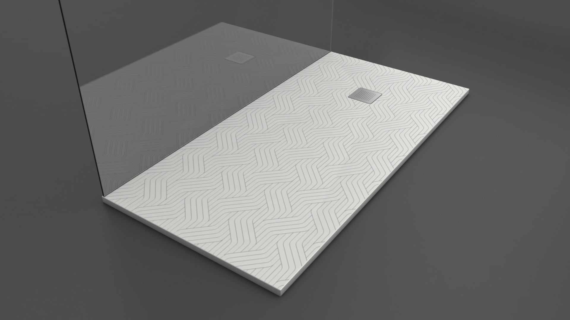 Texence Square - Plato de ducha con textura de trenzados