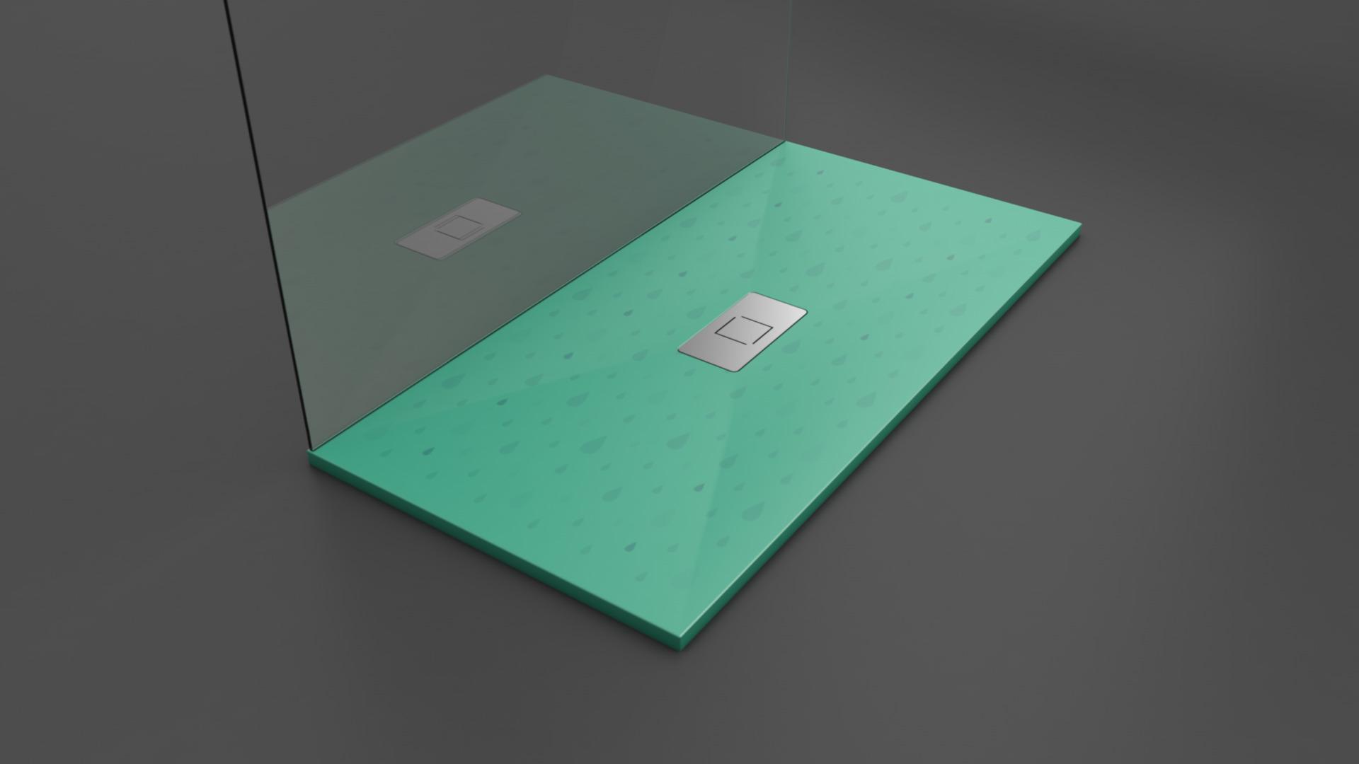 Texence - Plato de ducha con textura de gotas