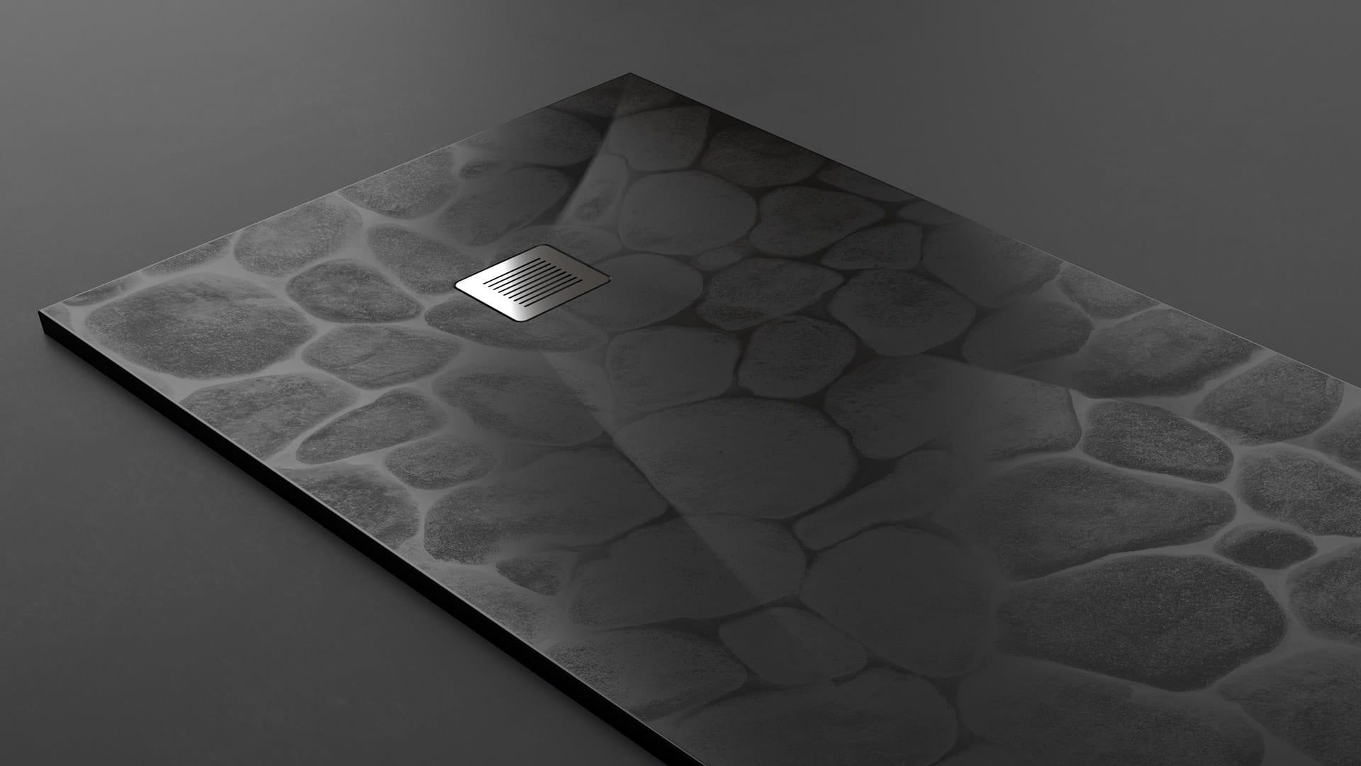 Plato textura stone